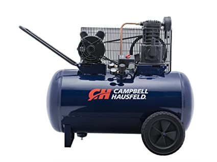 Air Compressor, 30-Gallon Horizontal Tank, Portable, Single-Stage, 10 2CFM,  3 7HP, 1 Phase (Campbell Hausfeld VT6271)