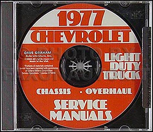 - 1977 Chevrolet Pickup, Blazer, Van, & Suburban Repair Shop Manual CD-ROM