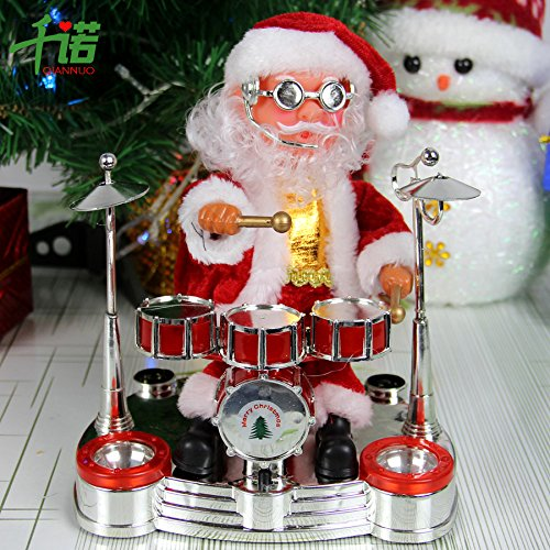 Christmas Ornaments Christmas Gifts Christmas Toys With Musical Dancing Santa Claus Drums Drum