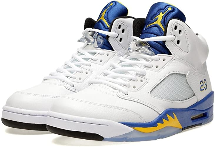 NIKE Mens Air Jordan 5 Retro Laney Leather Basketball-Shoes