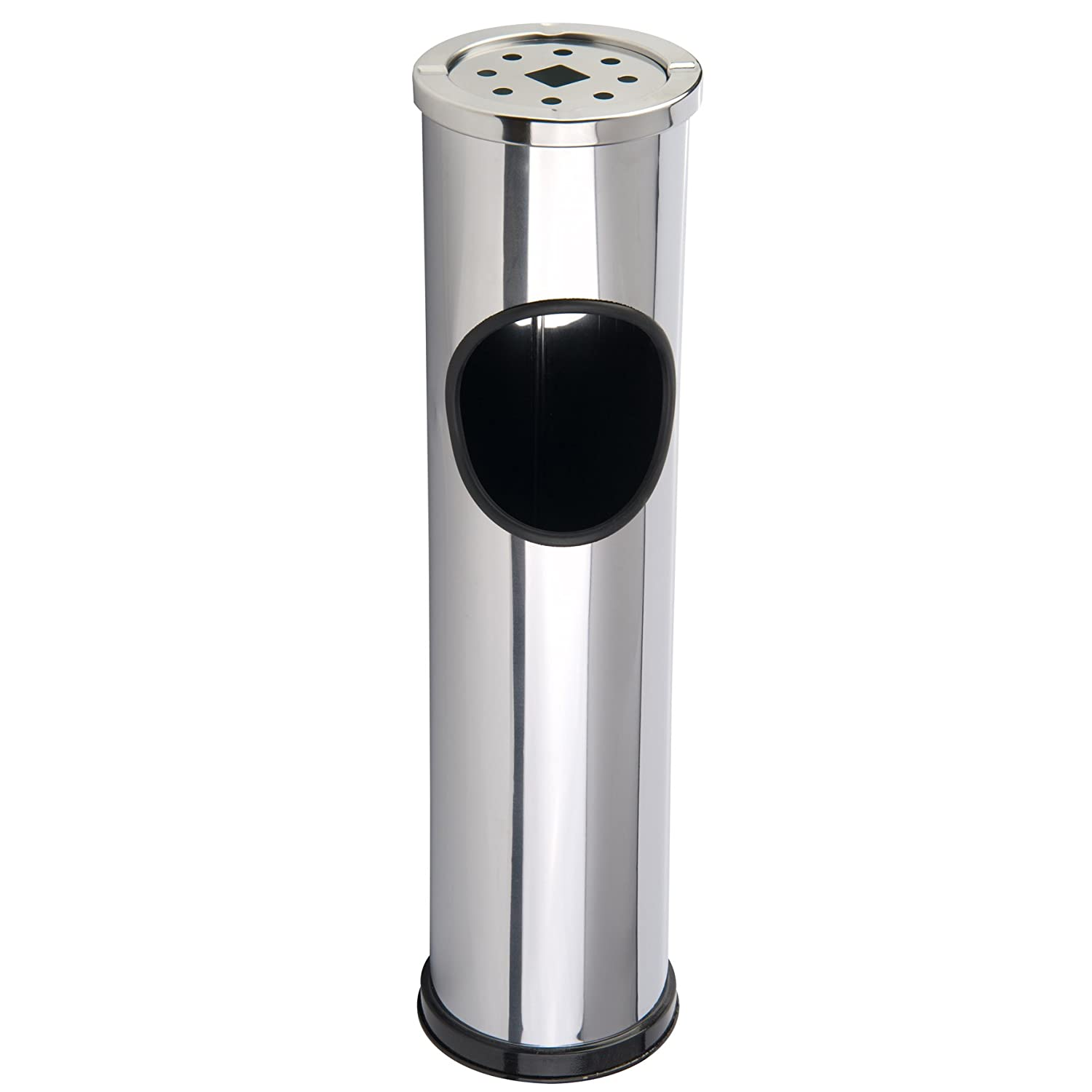 Amazon.com: Deuba Stainless Steel Outdoor Rubbish Bin Cigarette ...