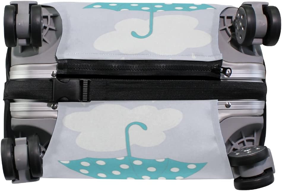 OREZI Luggage Protector Umbrella Pattern Travel Luggage Elastic Cover Suitcase Washable and Durable Anti-Scratch Stretchy Case Cover Fits 18-32 Inches
