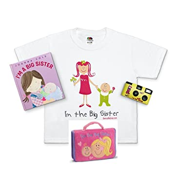 4a539bcbd Amazon.com : I'm the New Big Sister Deluxe Gift Bundle (Size: 2/4 ...