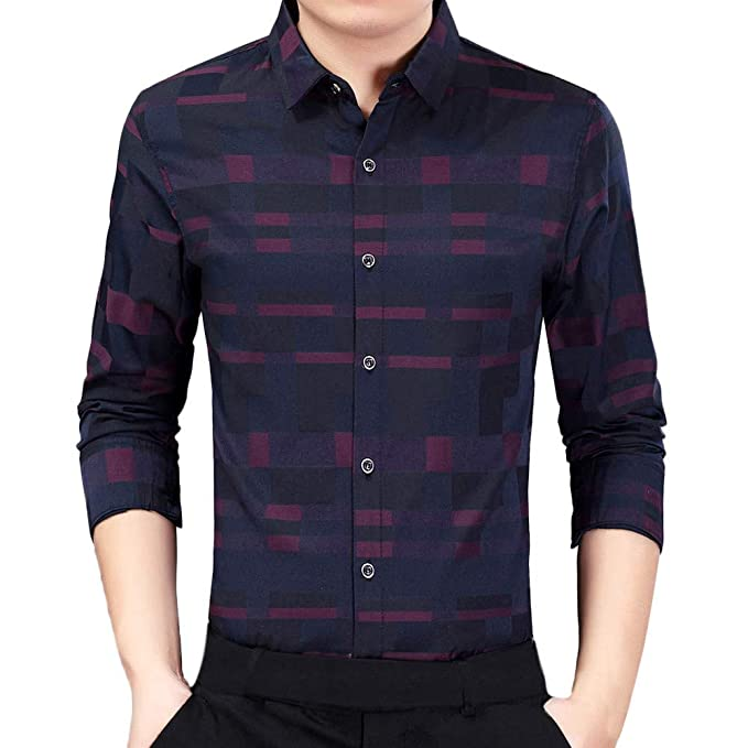Amazon.com: Camisas de vestir para hombre, con estampado de ...