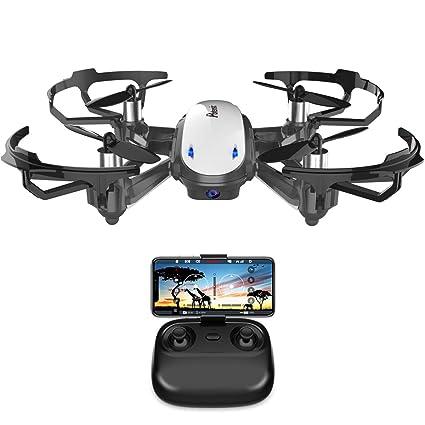 Potensic Mini Drohne mit Live-Video-Kamera, RC Helikopter FPV Quadrocopter ferngesteuert mit app, Kopflos-Modus, Höhe-halten-