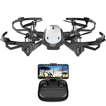 Potensic Drone con Cámara HD, Avión WiFi FPV, Cuadricóptero con Altitud Hold, Sensor