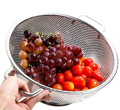 PriorityChef Colander, Stainless Steel 3 Qrt Kitchen Strainer With Large Stable Base by Priority Chef (Image #8)