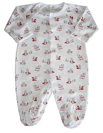 9f5425cbc8e Amazon.com  Kissy Kissy Baby-Boys Infant Sparky Print Footie-White ...