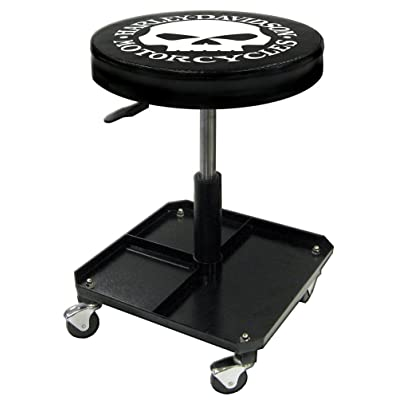 Harley-Davidson Willie G Skull Shop Stool, Swivel & Adjusted Seat Height P4765: Harley-Davidson: Automotive