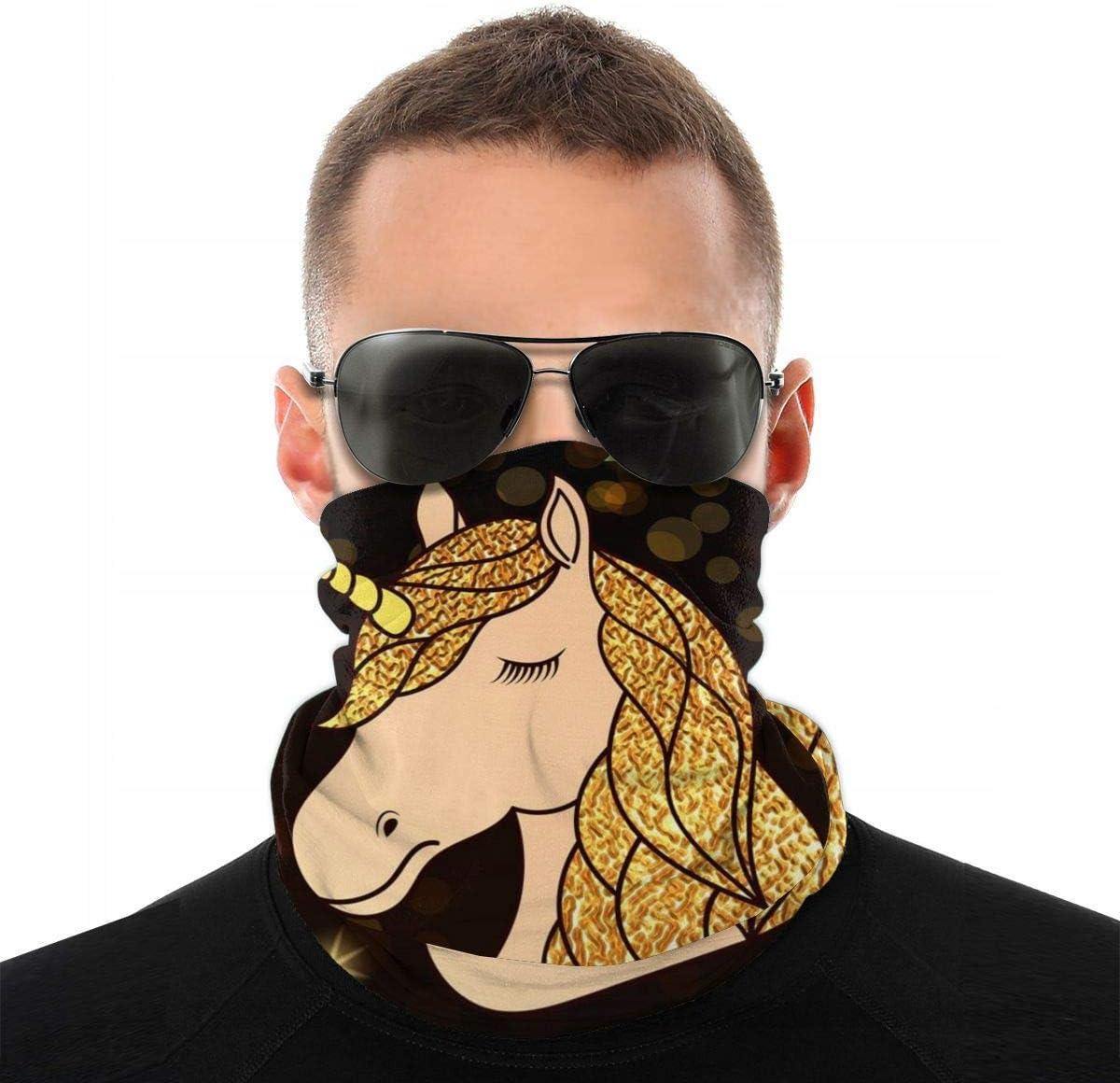 Mike-Shop Uña con Pelo Dorado Estrellas Brillantes Calentador de Cuello Polainas para el Cuello Calentador de Bufanda Calentador de Bufanda pasamontañas Suave Cubierta de Cara con 6 filtros