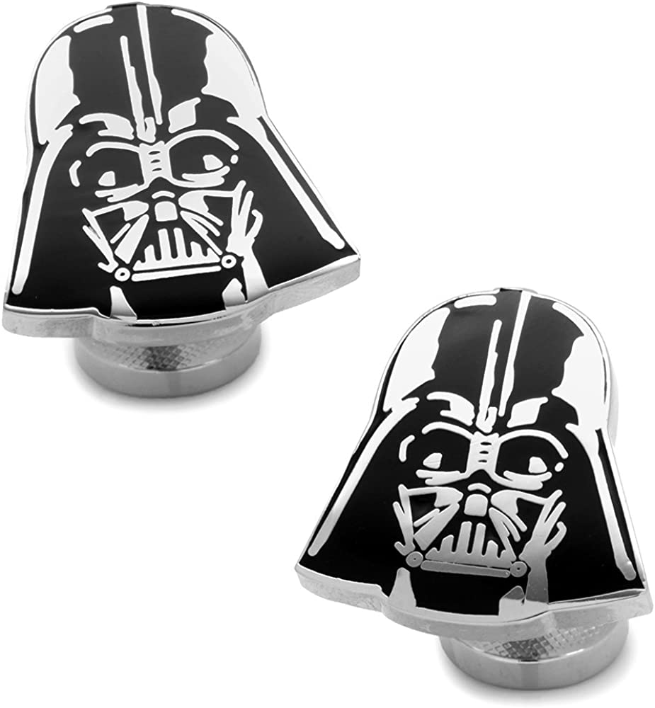 Star Wars Recessed Matte Darth Vader Head Cufflinks, Officially Licensed