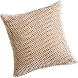 Chenille Spot Cream Cushion Cover 20inx20in (50cmx50cm) Approximately By Hamilton McBride by Hamilton McBride
