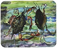 Caroline's Treasures Watery Teal & Purple Crabs Mouse Pad/Hot Pad/Trivet (8954MP)