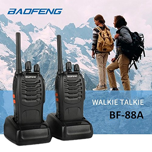Baofeng BF-88A FRS Two Way Radio (Upgrade Version of BF-888S) 16 Channels Handheld Rechargeable License Free Walkie Talkies with USB Charger + Earpiece, 2pcs by BaoFeng (Image #6)