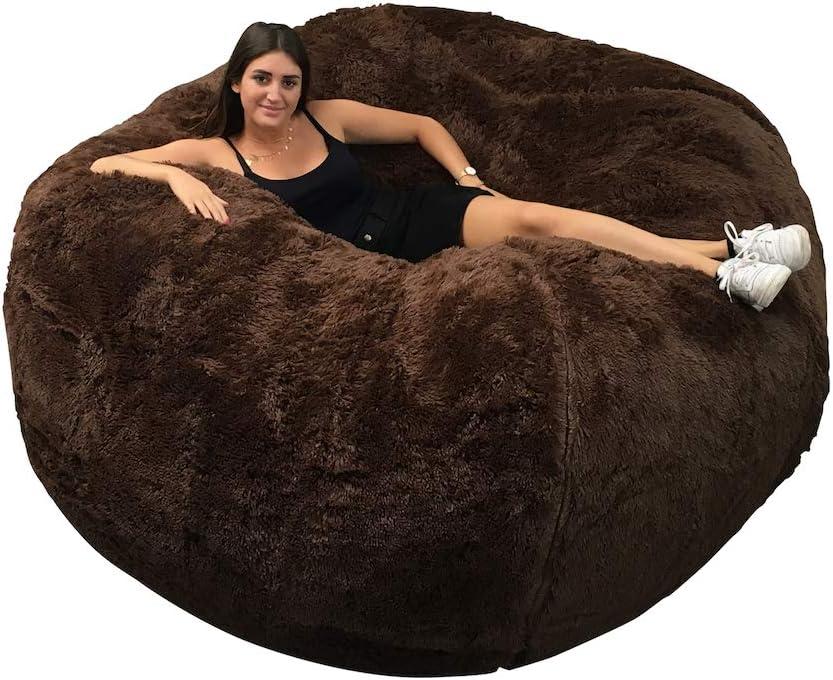 divano ultra confortevole pelliccia XXL fodera lavabile in lavatrice Pouf gigante 160 cm di diametro con schiuma distrutta divano pera cuscino
