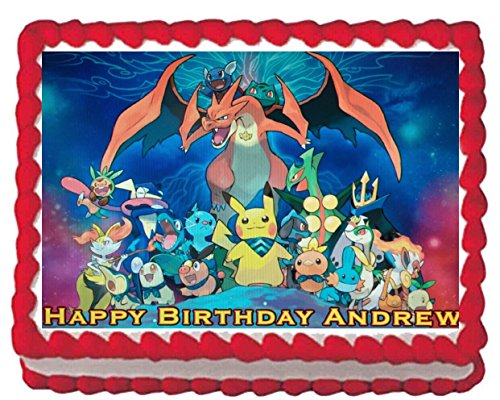 Pokemon Edible Cake Topper Image Decoration Frosting 1/4 Sheet (Birthday Cake Images For Best Friend)