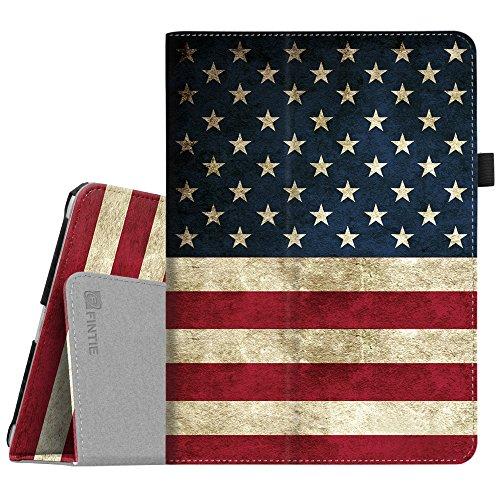 Fintie iPad 9.7 2018/2017, iPad Air 2, iPad Air Case - [Corner Protection] Premium Vegan Leather Folio Stand Cover, Auto Wake/Sleep for iPad 6th / 5th Gen, iPad Air 1/2, US Flag (American Flag I Pad Mini Case)