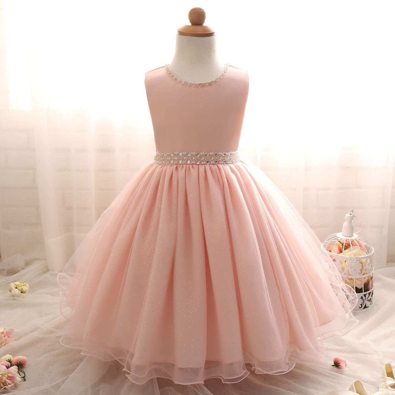 Baby Girl Kids Dresses for Wedding Evening Party Princess Dress Girl Costume Children Prom Fancy Tutu Dress Ceremonies Gown,C00267F,24M