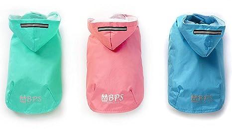 BPS® Chubasqueros Impermeables para Mascotas Perros, Impermeables con Capucha para Perro Pequeño Mediano y
