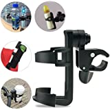 Wheelchair Cup Holders, ProCIV 360 Degrees Universal Cup Holder fits Baby Stroller, Pushchair Bicycle Strollers, Bike, Mountain Bike and Wheelchair, Black (Cup Holder)
