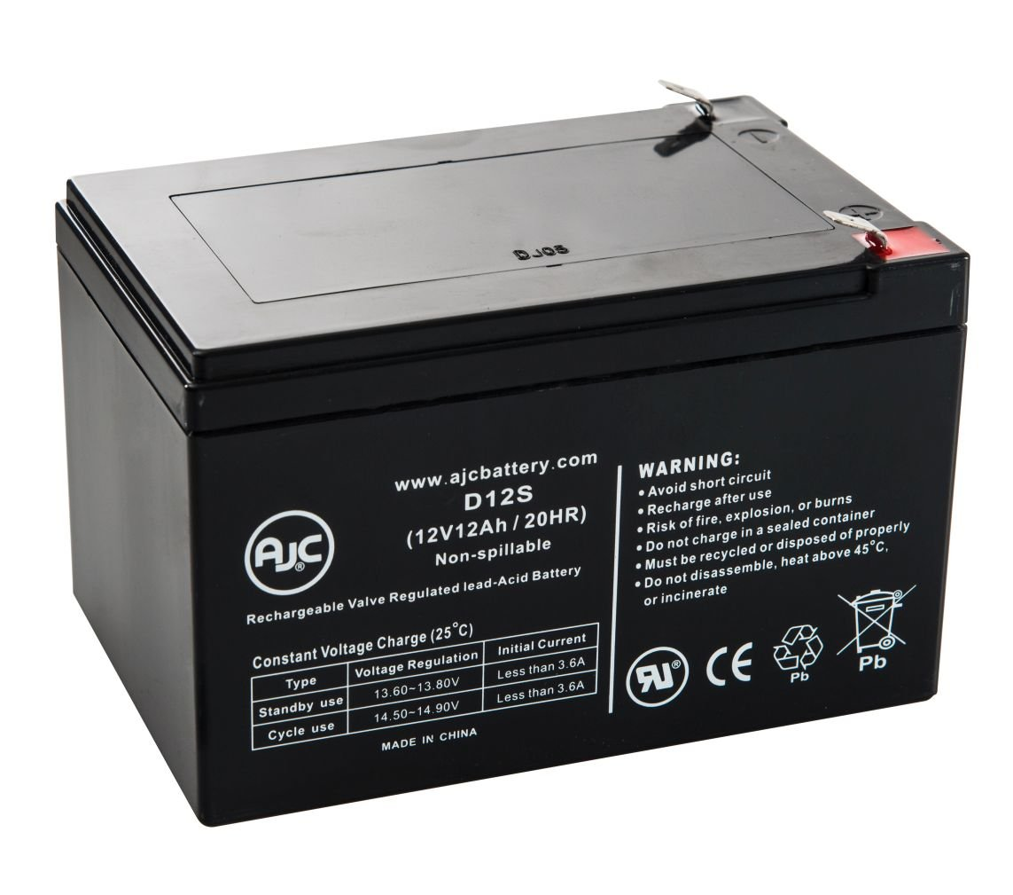 Zip'r 4-Wheel Leisure Travel Scooter 12V 12Ah Wheelchair Battery - This is an AJC Brand Replacement