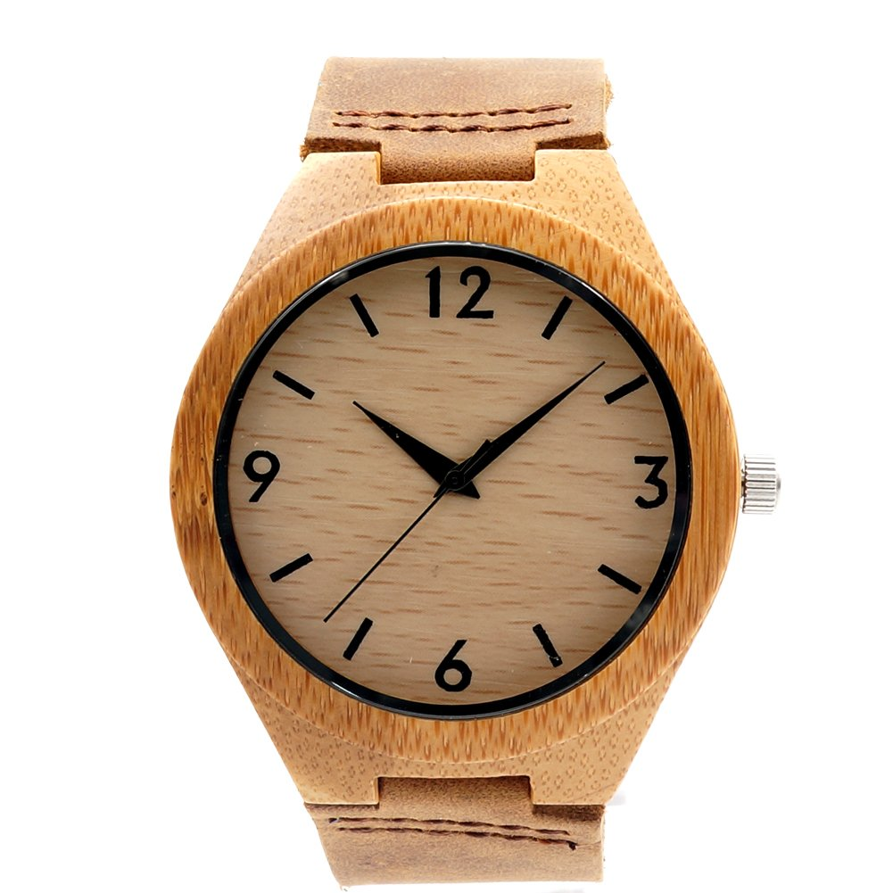 BOBO BIRD Bbf002 Women's Bamboo Wood Watches with Genuine Leather