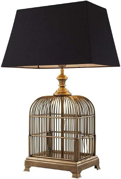 Casa Padrino Lampada Da Tavolo Vintage Con Gabbia Per Uccelli In Ottone E Nero 45 X 30 X 73 Cm Amazon It Casa E Cucina