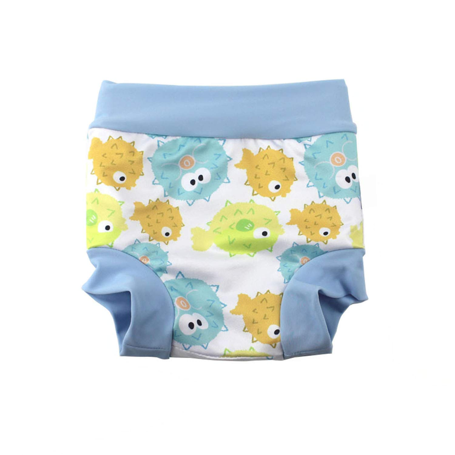 BabyPreg Baby Kids Swim Nappies Cover Happy Nappy High-Waisted Belly Protection Swimming Shorts Green, L// 2-3 Years
