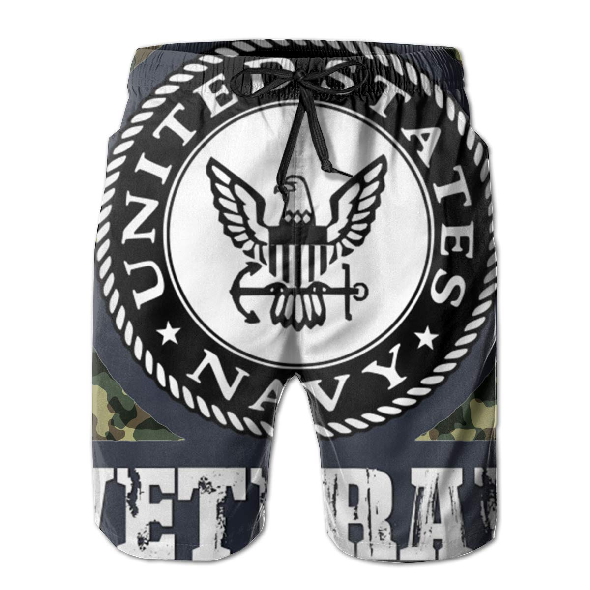 You Know And Good Navy Veteran Mens Swim Trunks Bathing Suit Beach Shorts
