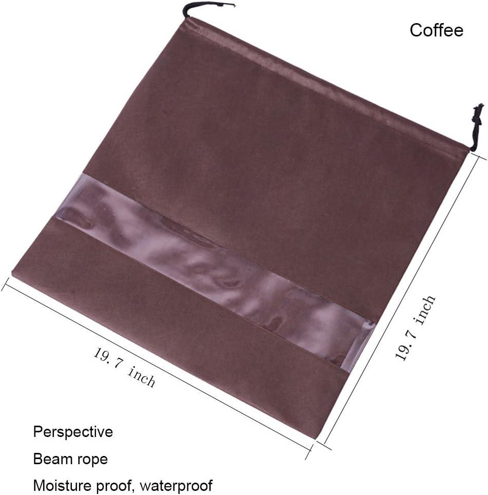 2/St/ück Vlies atmungsaktiv Kordelzug Tasche Staub Staubbeutel f/ür Handtaschen Coffee