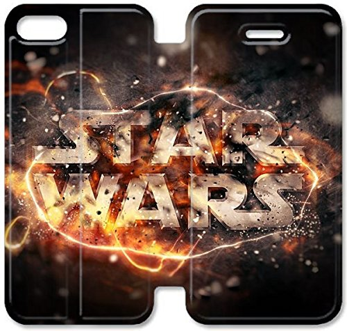 Coque iPhone 6 6s 4,7 pouces Coque Cuir, Klreng Walatina® 6 6s PU Wallet cuir Coque Design by Star Wars Fond Walin T4B1Pq