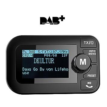 Oppdatert Car DAB+ Radio Bluetooth FM Transmitter Car Kit mit DAB: Amazon.de WD-58