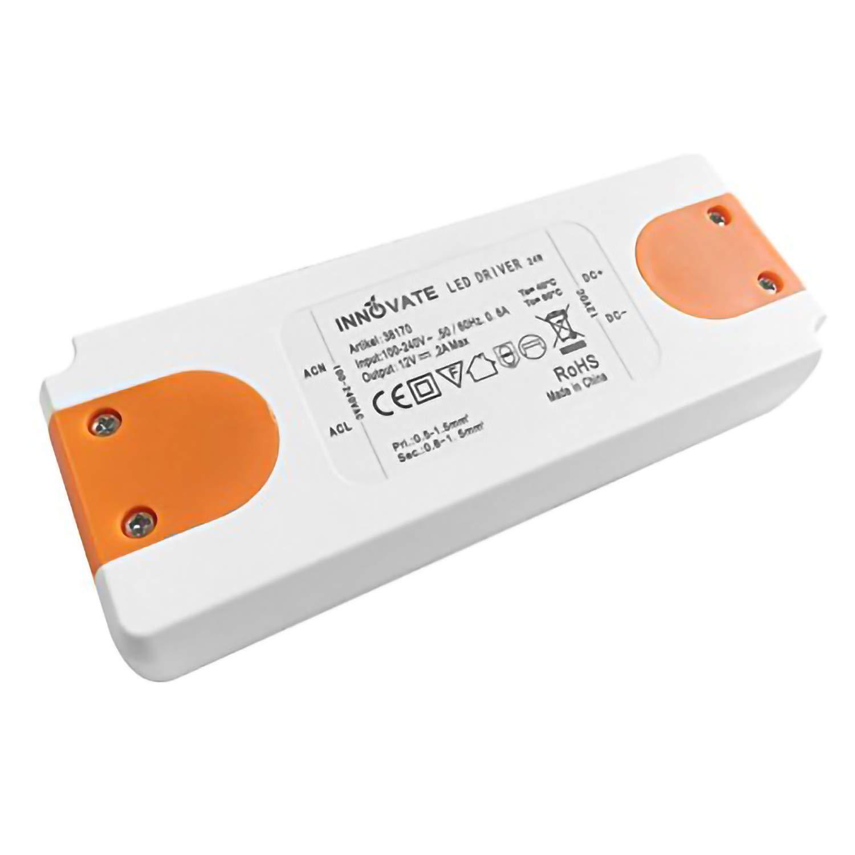 Innovate Transformateur LED ECO 12 V/DC 0-24 W – Transformateur – Bloc d'alimentation - Driver.