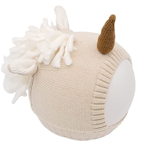 AYUQI Baby and Toddler Unicorn Beanie Wool Knitting Hat For Autumn Winter  (Beige) 3f2a74ab2da