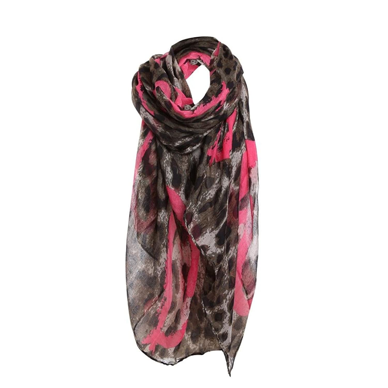 Womail Women Girls HOT Selling Leopard Print Pattern Long Scarf Warm Wrap Shawl
