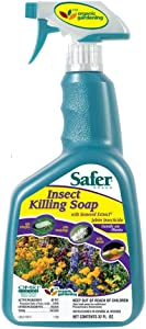 Safer Insect Killing Soap With Seaweed Extract Multiple Insects Spray 32 Oz
