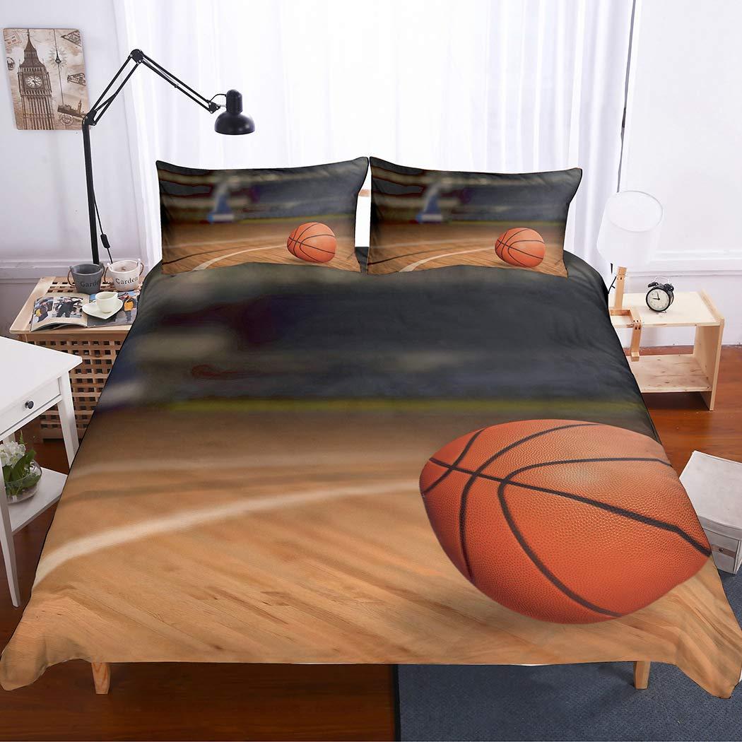 2 Pillowcases APJJQ 3D Digital Print American Football Bedding Set,100/% Brushed Microfiber Polyster Sports Patterns 3 Piece Duvet Cover Set for Kids Teen Boys and Girls,Queen 1 Duvet Cover