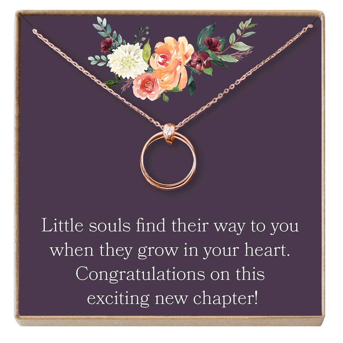 Expectant Mother 2 Linked Circles New Mom Gift Dear Ava Adoption Gift Necklace: for Mom Jewelry