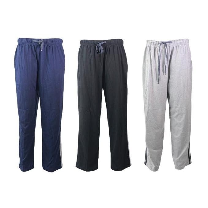 Para hombre diseño de rayas de mezcla de algodón Lounge pantalones de para hombre (desgaste gimnasio Sport Jogging Pantalones Pijamas Ropa de Dormir ...