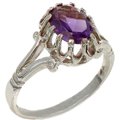 Sizes J to Z 925 Sterling Silver Pearl /& Amethyst Womens Trilogy Ring