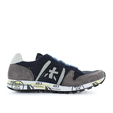 Premiata Men's Shoes Eric 3138 Blue Grey Sneaker Spring Summer 2018