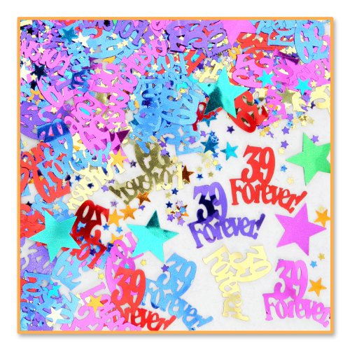 9 Forever Confetti (Pack of 96) by Beistle