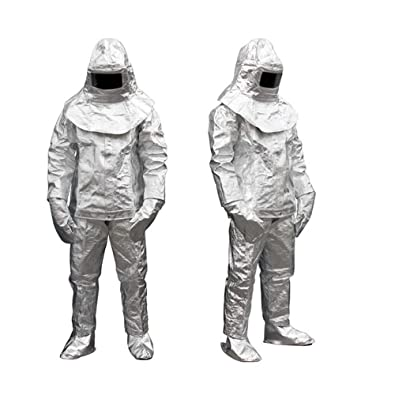 4f8c713902b Aluminized Fire Resistant Clothing vinmax Flame Resistant Clothing Hoodie  Coverall Safe Fire Work Suit Thermal Radiation