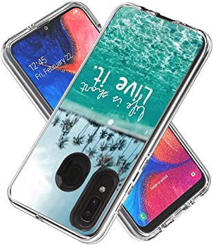 Bicase Funda Samsung Galaxy A20 Transparente Silicona Suave TPU y ...