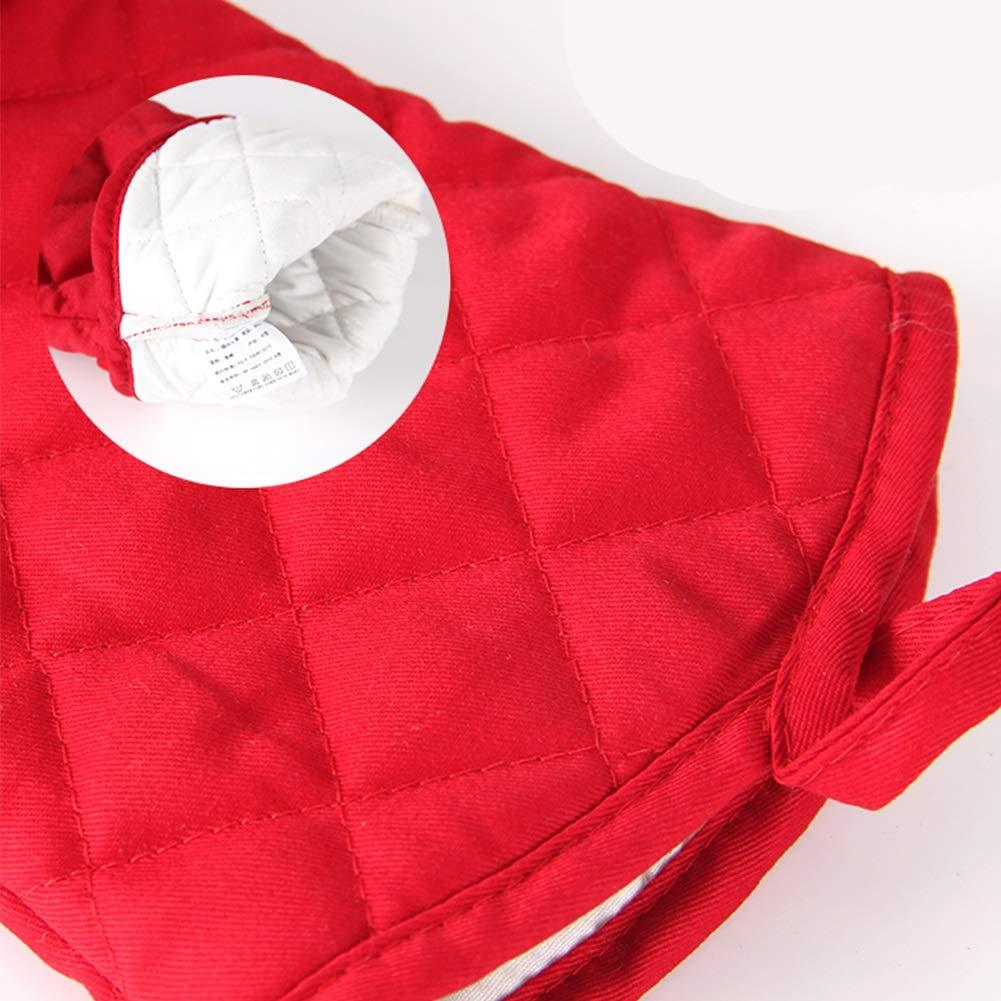 2 guantes de horno de microondas Guantes con aislamiento Grueso de silicona Temperatura alta Cinco dedos Horno de cocci/ón anti-caliente Guantes de cocina Color : Black-Single