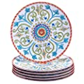 "Certified International Corp Tuscany Salad/Dessert Plates, 9"", Multicolored, Set of 6"