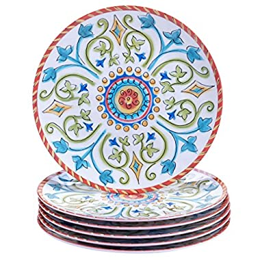 Certified International Corp Tuscany Salad/Dessert Plates, 9 , Multicolored, Set of 6