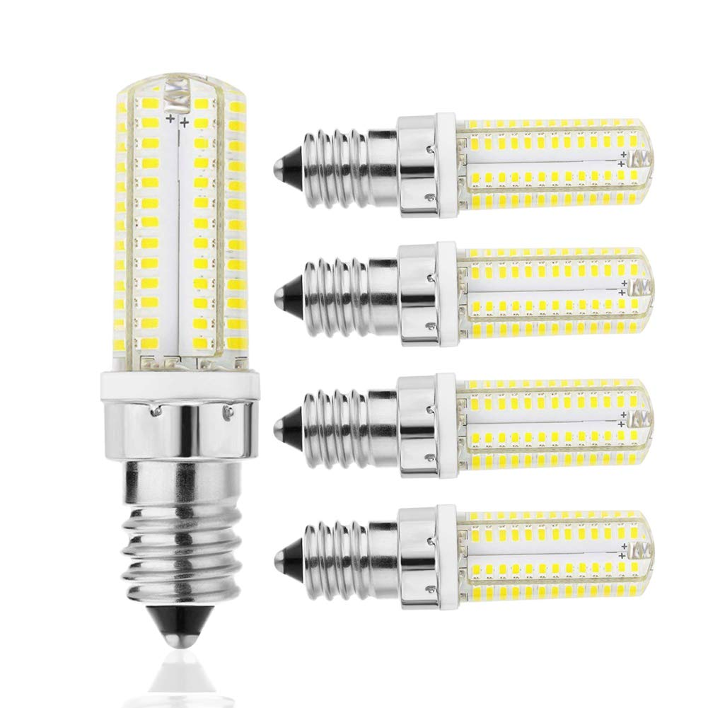 E14 SES 5W Non-Dimmable LED Candle Light Bulb Cool Day Warm White SMD Desk Lamp