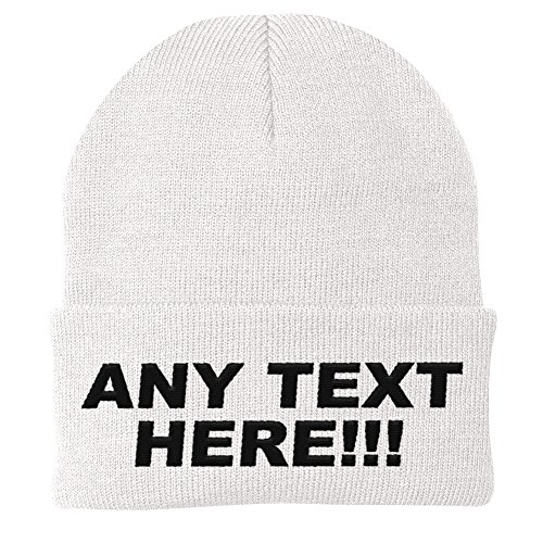 Personalized Beanie - Design Your Own Knit Cap, Custom