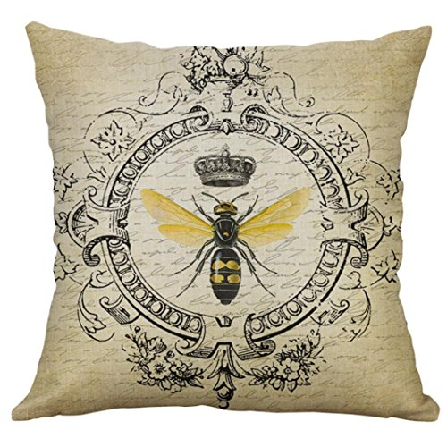"Price comparison product image Vintage Insect Series Pillow Case, Clearance!AgrinTol Cotton Linen Throw Pillow Case Cushion Cover Home Decor (18""x18"" / 4545cm,  B)"